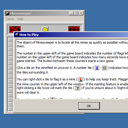 The game with the help dialog open.